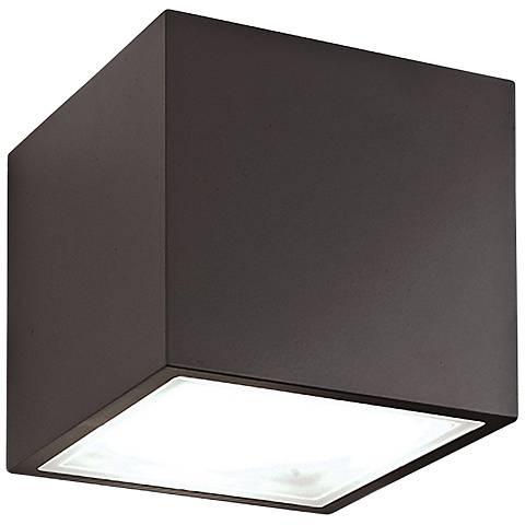 """Modern Forms Bloc 5 1/2"""" High Bronze LED Outdoor Wall Light"""
