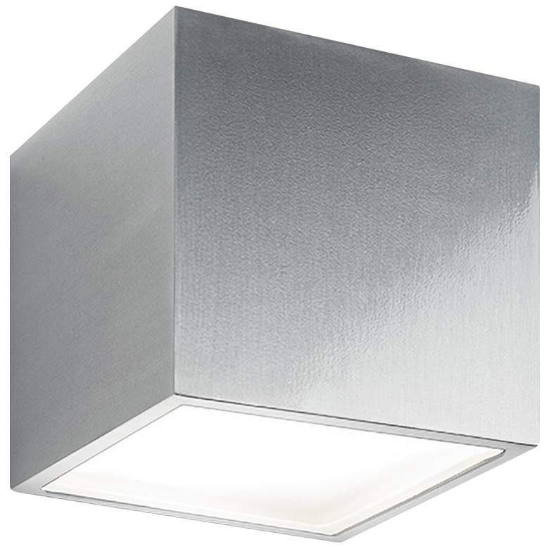 "Bloc 5 1/2"" High Brushed Aluminum LED Outdoor"