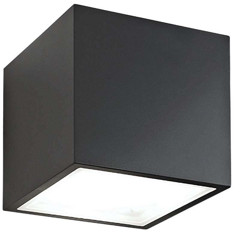 "Bloc 5 1/2"" High Black 2-Light LED Outdoor Wall Light"
