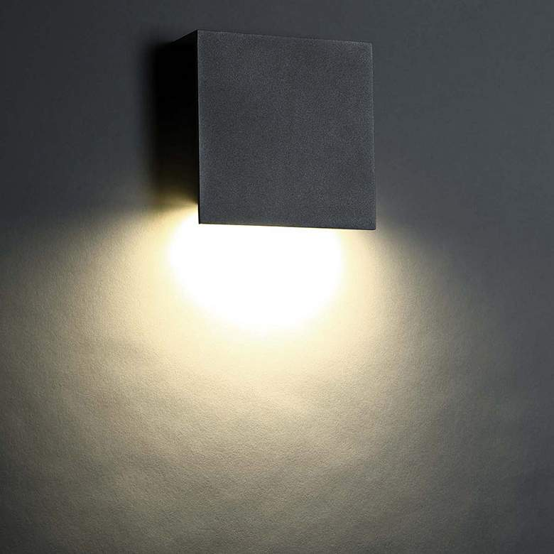"""Modern Forms Square 10"""" High Bronze LED Outdoor Wall Light"""
