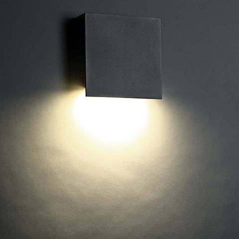 "Modern Forms Square 10"" High Bronze LED Outdoor Wall Light"