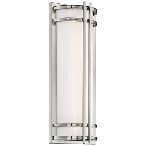 """Skyscraper 18"""" High Stainless Steel LED Outdoor Wall Light"""