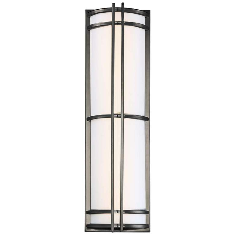 "Modern Forms Skyscraper 27""H Bronze LED Outdoor Wall Light"