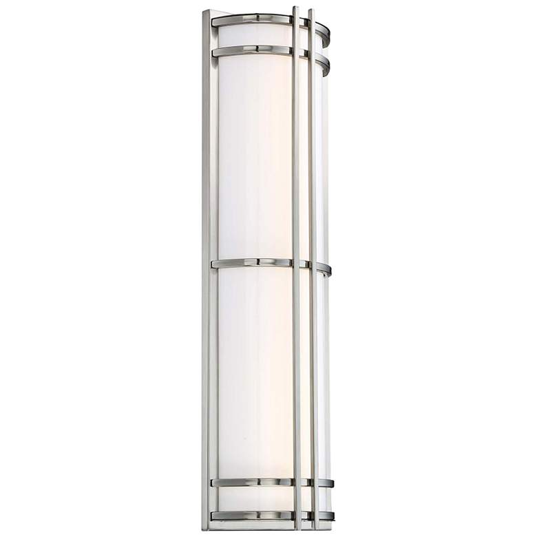 """Skyscraper 27"""" High Stainless steel LED Outdoor Wall Light"""