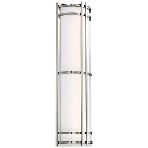 "Skyscraper 27"" High Stainless steel LED Outdoor Wall Light"