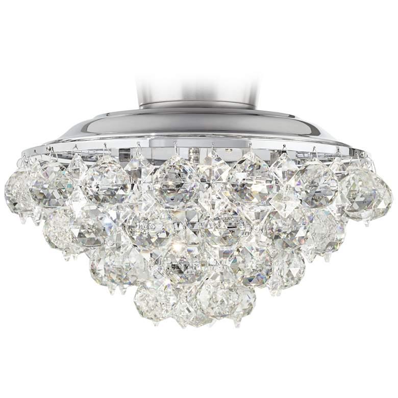Crystal Ball Chrome Universal Ceiling Fan Led Light Kit