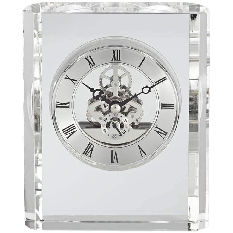 """Aimee 6"""" High Rectangular Crystal Table Clock"""