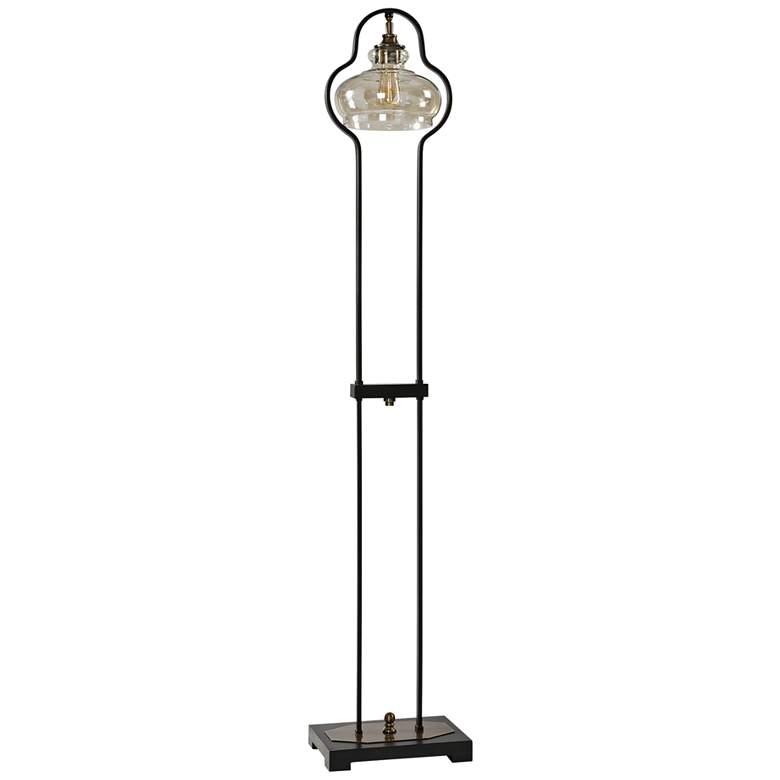 "Uttermost 66"" High Cotulla Aged Black Finish Floor Lamp"
