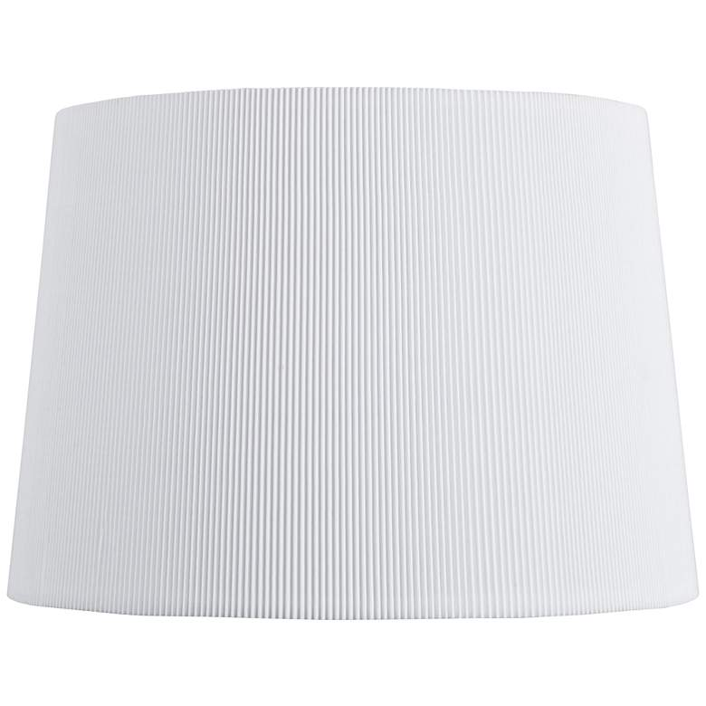 Pure White Knife Pleat Lamp Shade 12x14x10 (Spider)