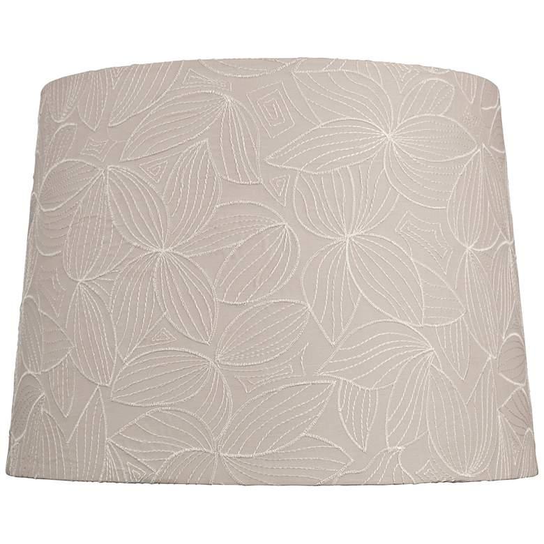 Beige Flower Embroidery Lamp Shade 13x15x11 (Spider)
