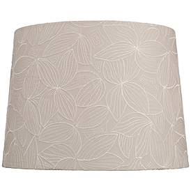 Beige Flower Embroidery Lamp Shade 13x15x11 Spider