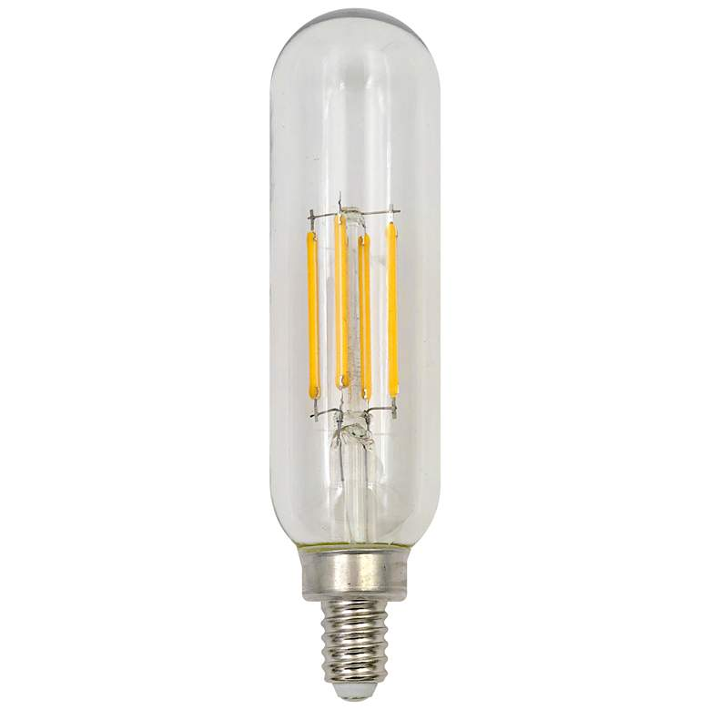 40W Equivalent Tesler Clear 4W LED Dimmable E12 Base Bulb