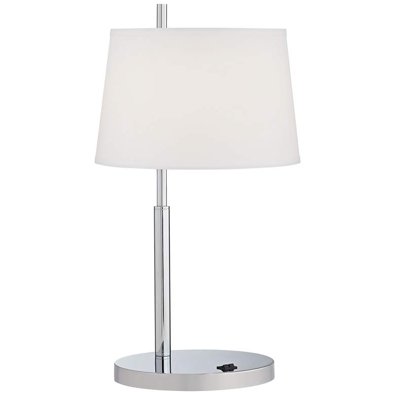 59G94 - Double Nightstand Table Lamp in Chrome Finish