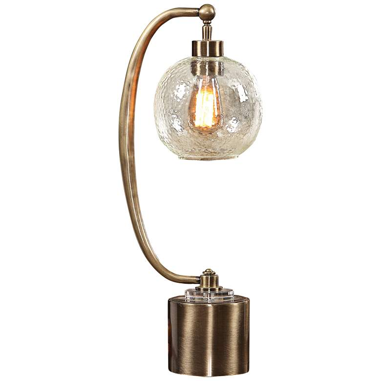 Uttermost Gacinia Plated Antique Brass Desk Lamp