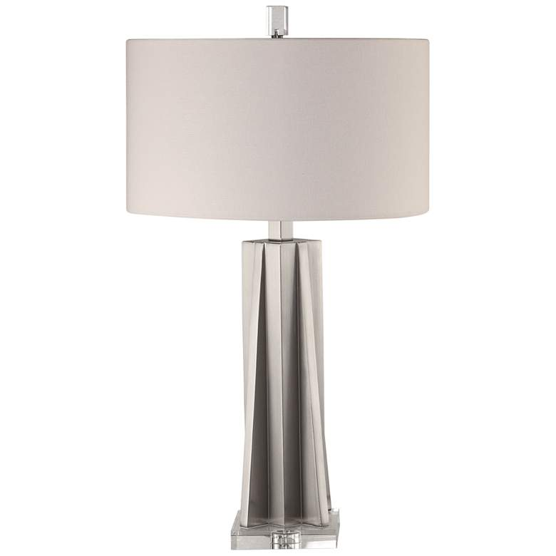 Uttermost Trinculo Brushed Nickel Geometric Table Lamp
