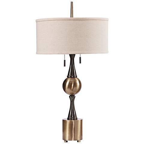 Uttermost Vaeshon Bleached Wash Concrete Column Table Lamp