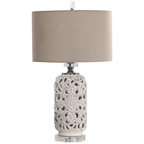 Uttermost Dahlina Pierced Ceramic Table Lamp