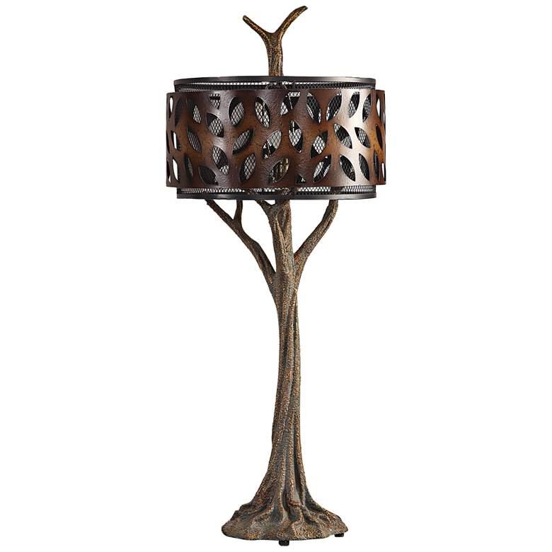 Uttermost Tremula Antiqued Metallic Gold Tree Table Lamp