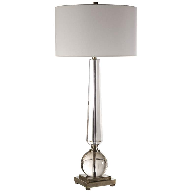 Uttermost Crista Tapered Cut Crystal Column Table Lamp