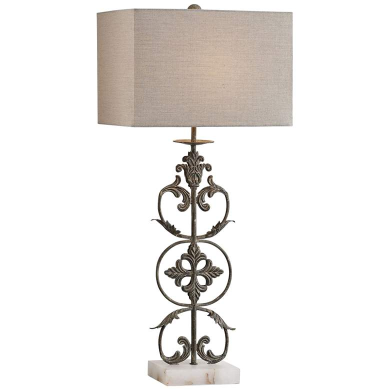 Uttermost Gerosa Distressed Aged Bronze Table Lamp