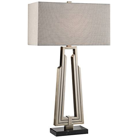 Uttermost Alvar Antiqued Nickel Plated Table Lamp