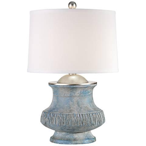 Uttermost Gavello Aged Blue Ceramic Table Lamp