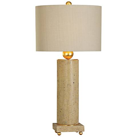 Uttermost Krisel Oval Column Concrete Table Lamp