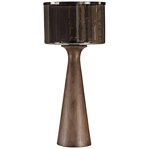 Uttermost Fernando Rustic Walnut Stain Wood Table Lamp