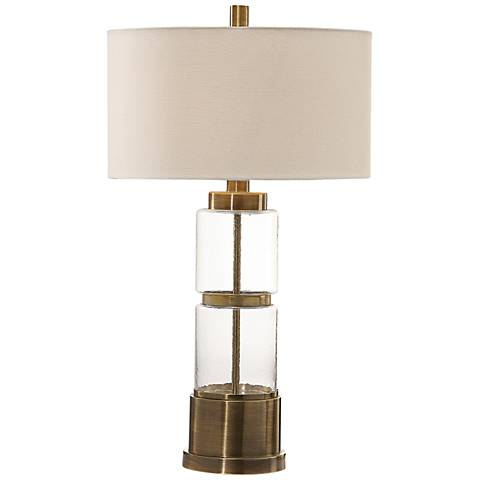 Uttermost Vaiga Antique Brass Plated Table Lamp