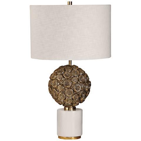 Uttermost Taro Aged Metallic Gold Accent Table Lamp