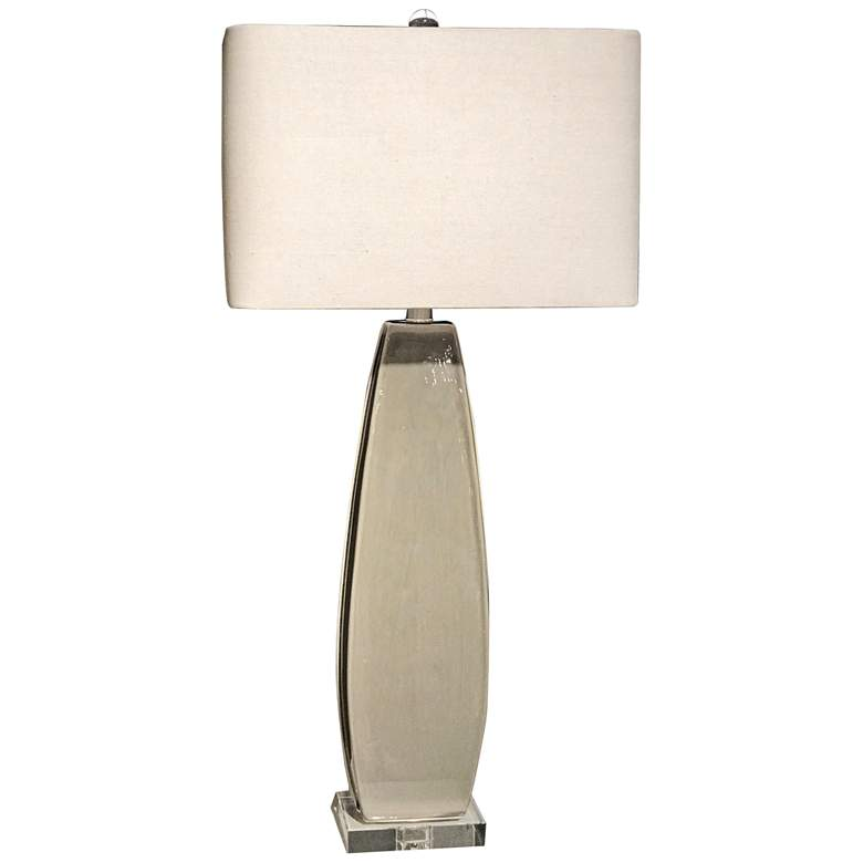 Uttermost Michalla Worn Charcoal Ceramic Table Lamp