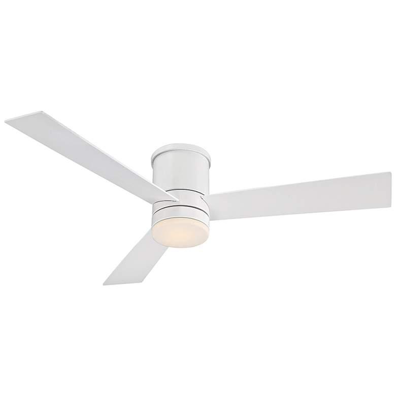 """52"""" Modern Forms Axis Matte White Hugger Wet LED Ceiling Fan"""