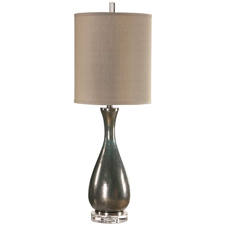 Uttermost Meara Metallic Bronze Glass Buffet Table Lamp
