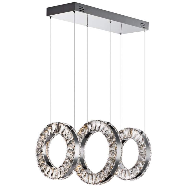"Charm 20 1/2"" Wide Chrome LED Kitchen Island Light Pendant"