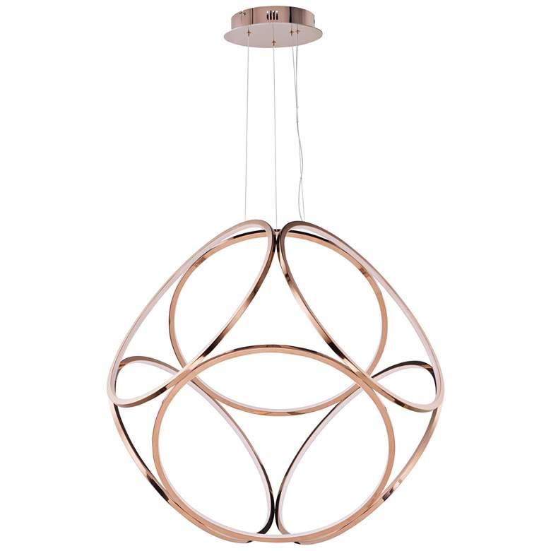 """ET2 Form 34 1/2"""" Wide Rose Gold LED Pendant Light"""