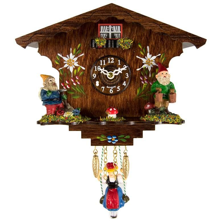 """Hermle Annaliesse 8 1/2"""" High Gnome Cuckoo Clock"""