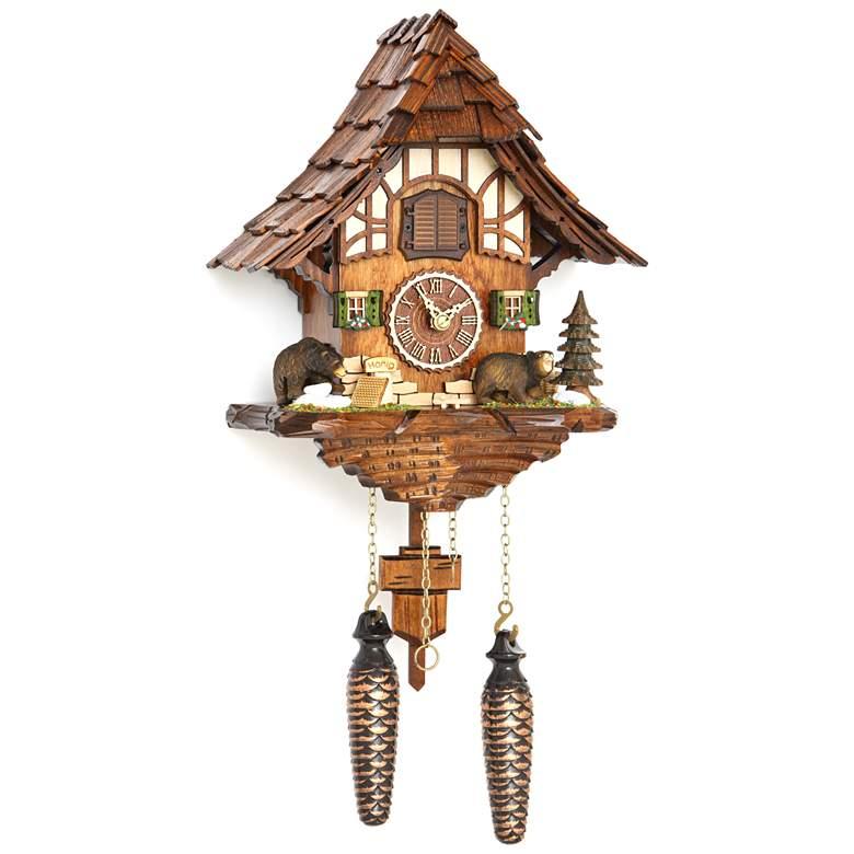"Hermle Baiersdorf Multi-Color 9 1/2"" High Cuckoo Wall Clock"