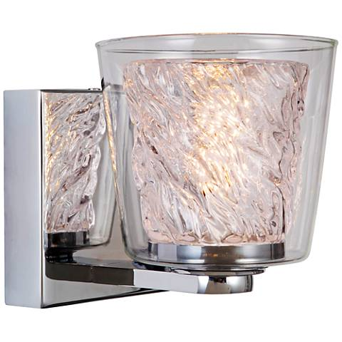 "Craftmade Bevi 5 3/4"" High Chrome LED Wall Sconce"