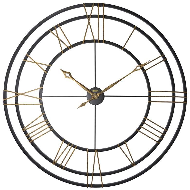 """Hermle Lehman 49"""" Round Gallery Metal Wall Clock"""