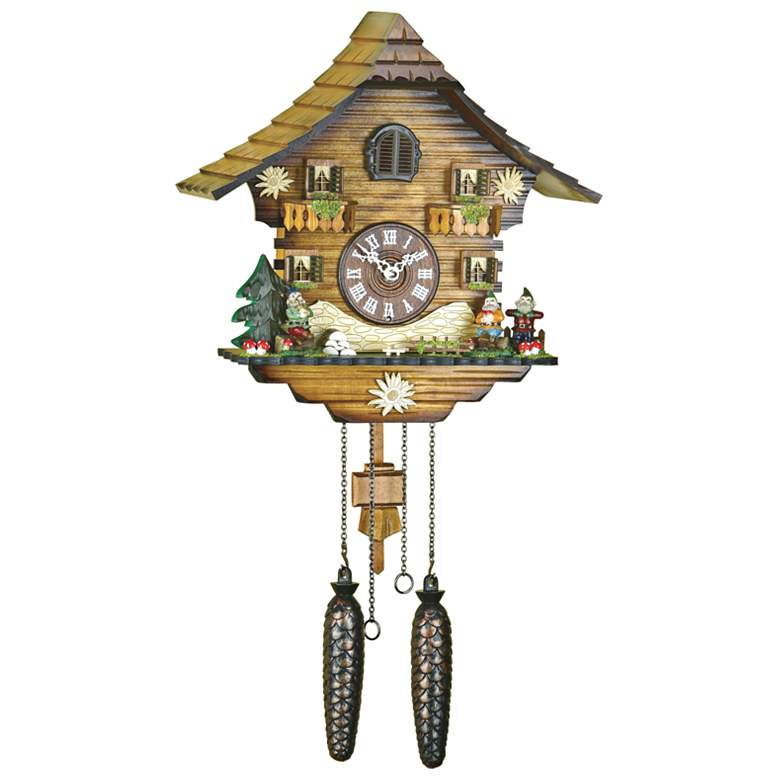 "Hermle Neustadt Multi-Color 18"" High Cuckoo Wall Clock"