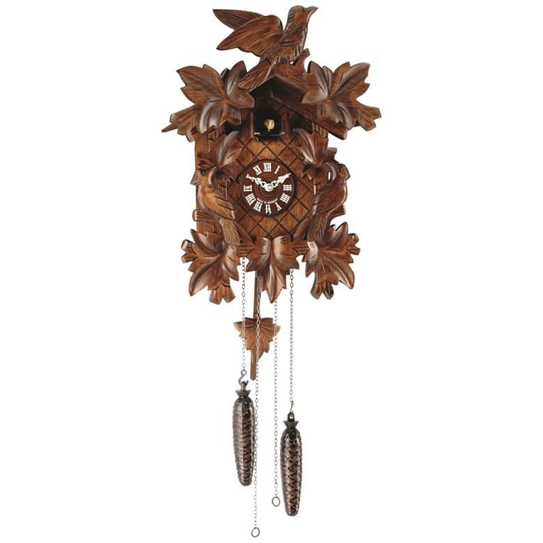 """Hermle Villingen Wood 21"""" High Cuckoo Wall Clock"""