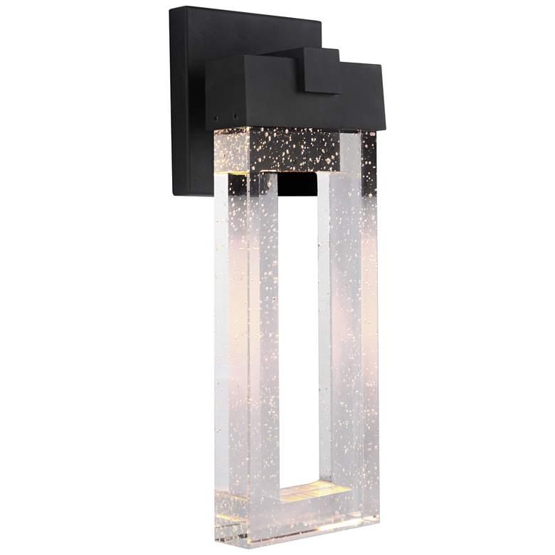 "Cantrell 14 1/4"" High Matte Black LED Outdoor Wall Light"