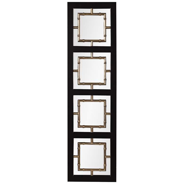 "Tadon Black Champagne 20 1/2"" x 74 1/2"" Floor Mirror"