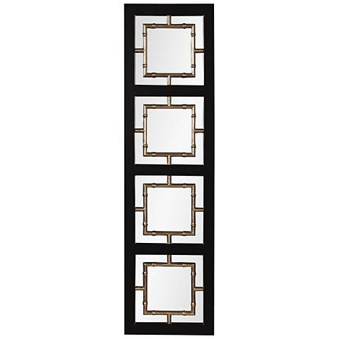 "Tadon Black and Champagne 20 1/2"" x 74 1/2"" Flr Mirror"