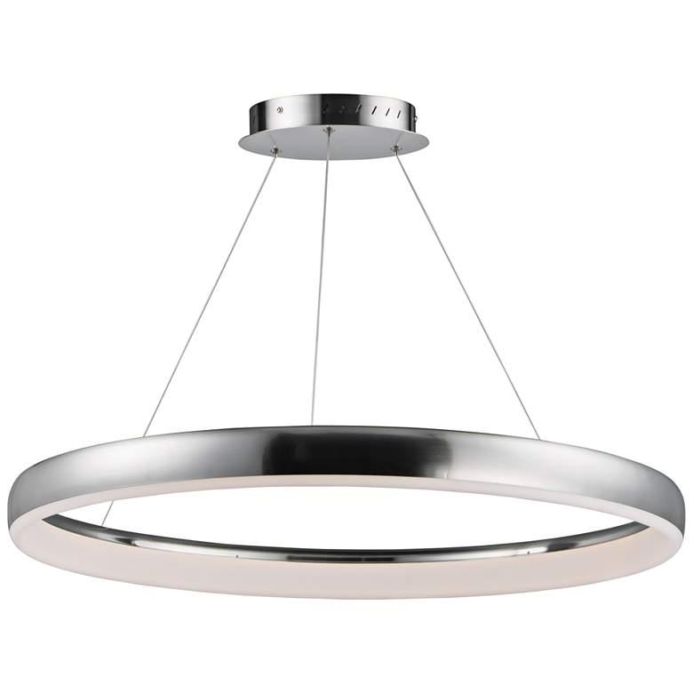 """ET2 Innertube 31 1/2"""" Wide Satin Nickel LED Pendant Light"""