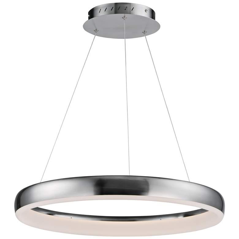 """ET2 Innertube 23 1/2"""" Wide Satin Nickel LED Pendant Light"""