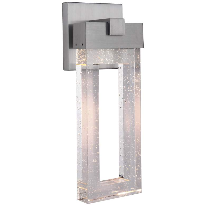 "Cantrell 17 3/4"" High Satin Aluminum LED Outdoor"