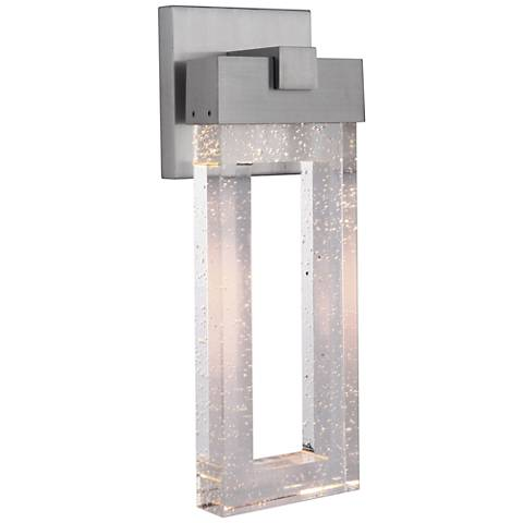"Cantrell 17 3/4"" High Satin Aluminum LED Outdoor Wall Light"