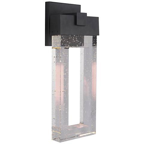 "Cantrell 17 3/4""High Matte Black LED Outdoor Wall Light"