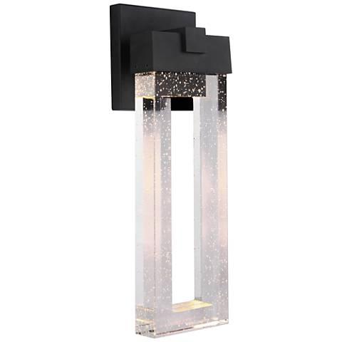 "Cantrell 20 3/4"" High Matte Black LED Outdoor Wall Light"
